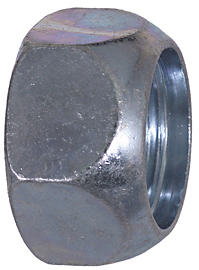 1-1/8-16 Inch 1-1/2 Inch Hex Left Handed Wheel Nut