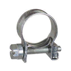 #14 Clear Chromate Steel Fuel Injection Hose Clamp - For Plastic Silcone or Rubber Hose