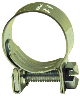 #14 Chromate Steel Fuel Injection Hose Clamp - For Plastic Silcone or Rubber Hose