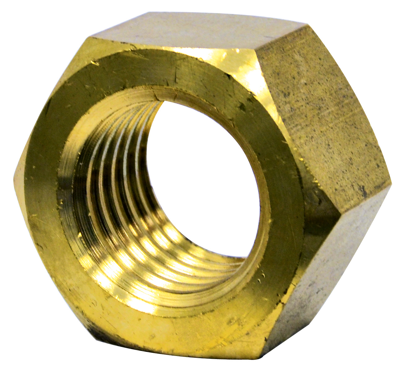 #10-24 Coarse Brass Machine Screw Hex Nut