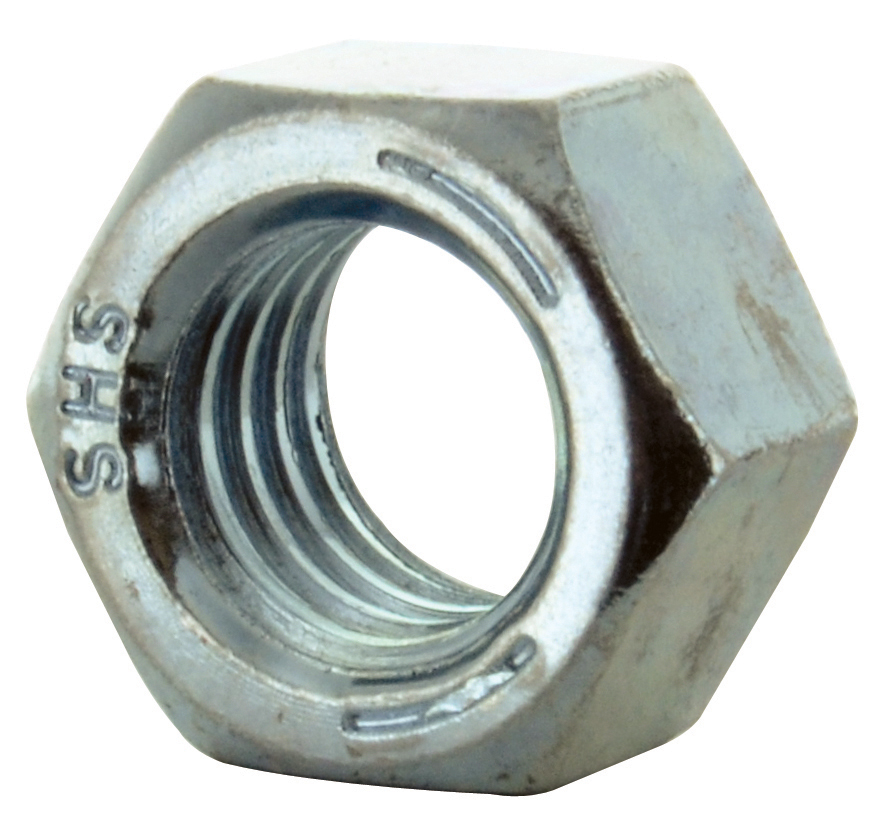 1/4-20 Coarse Zinc Plated Grade 5 Left Handed Finished Hex Nut