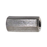 1-8 x 2-1/2 Inch Coarse Plain 18-8 Stainless Steel Hex Coupling Nut
