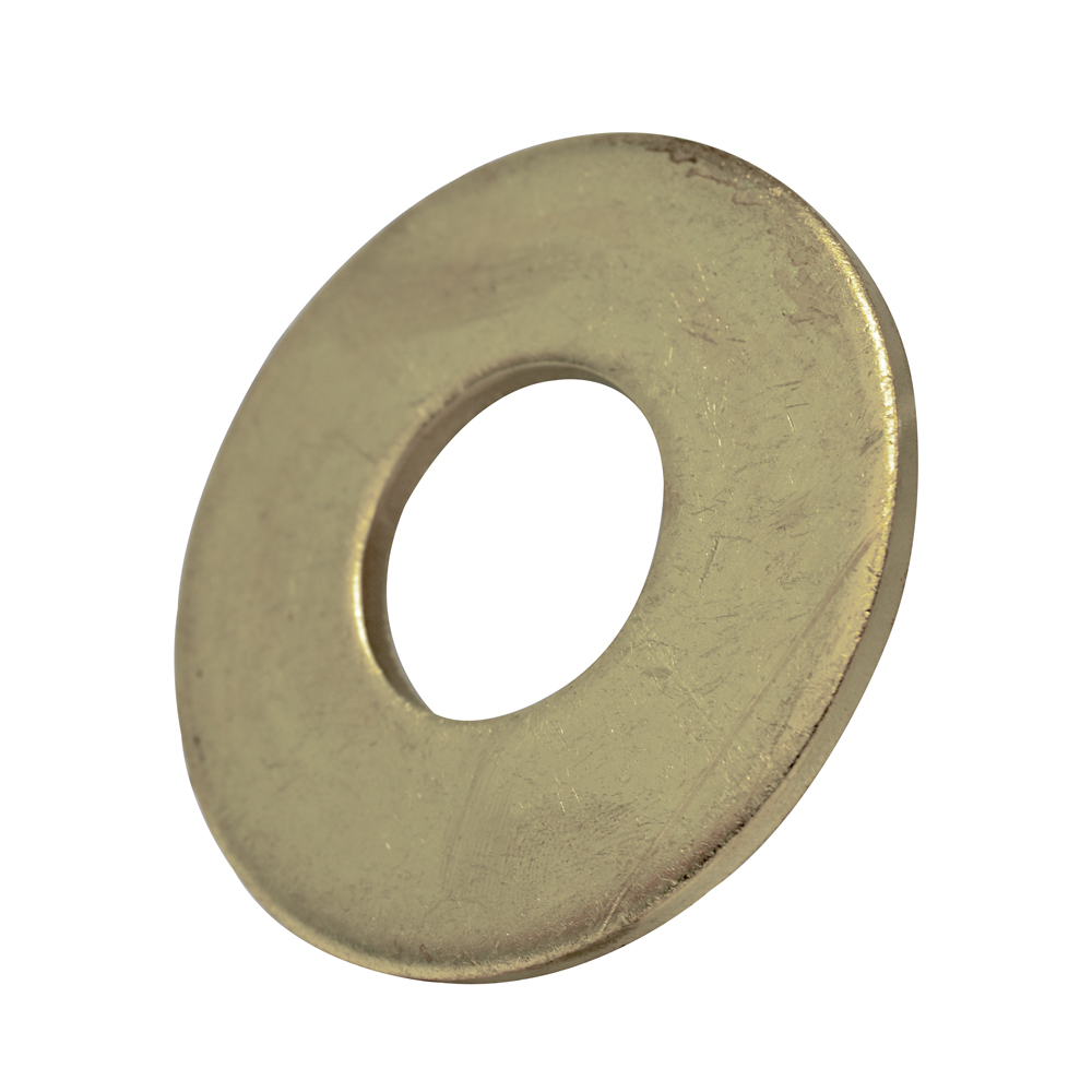 #10 Nickel Plated Brass Flat Washer