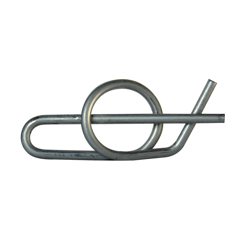 0.844 Inch Locking Cotter Pin Fits Shaft 1/4 Inch Heavy Zinc Coated Ring Clip