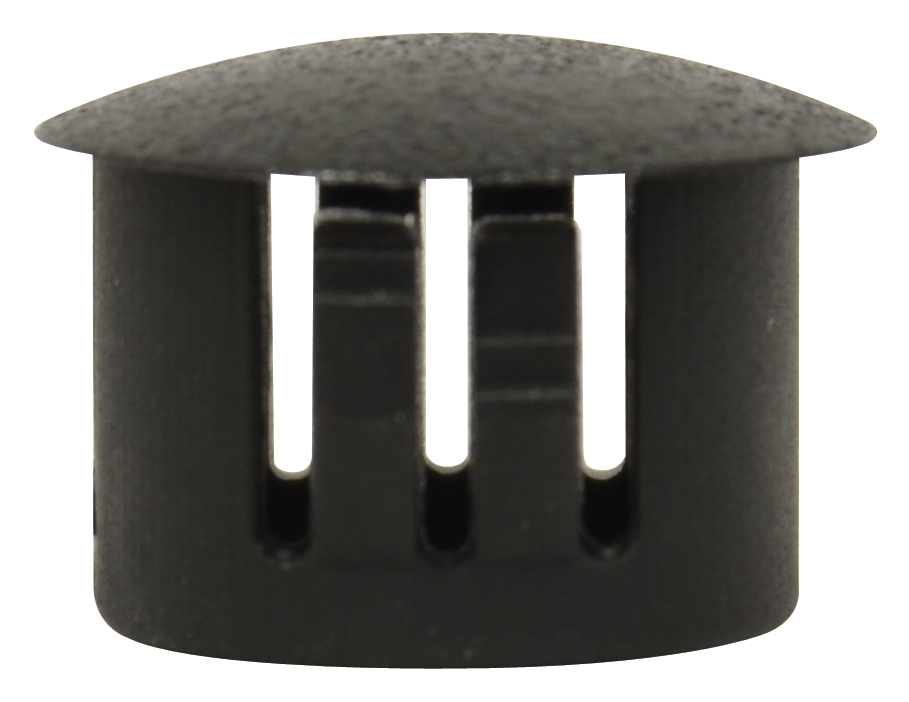 1/2 Inch Universal Flush Sheet Metal Plug Black Nylon