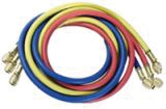 60 Inch Yellow/Red/Blue Nylon 800 Series Polarshield® Air Conditioning Hose With Standard 1/4 Inch Fitting