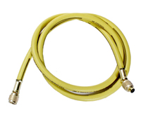 60 Inch Yellow Nylon 800 Series Polarshield® Air Conditioning Hose With Standard 1/4 Inch Fitting