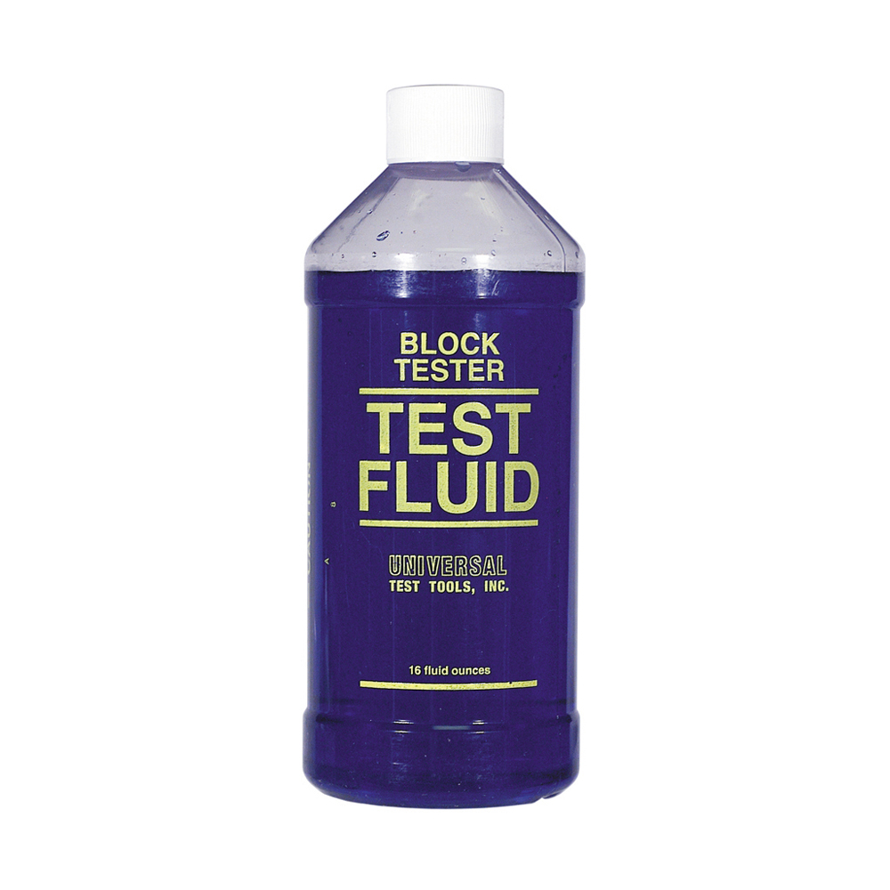 16 oz Bottle Blue (May Be Green or Yellow In Activated State) Block Check Test Fluid