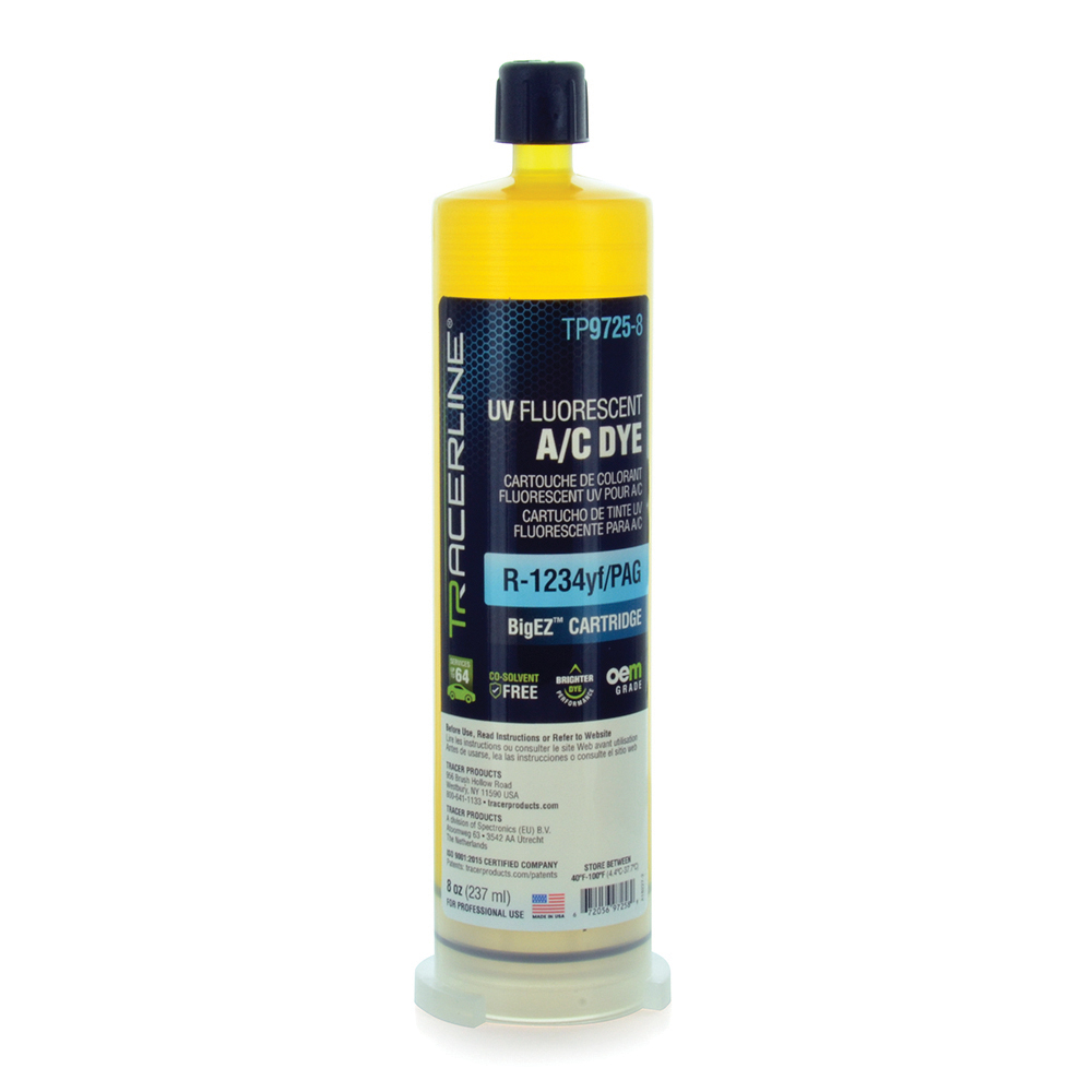 Big-Ez OEM Grade A/C PAG Dye for R1234-YF 8 Ounce