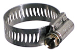 #10 Hose Clamp 9/16 Inch x 1-1/16 Inch Stainless Steel Band Breeze Mini General Purpose Perforated Worm-Gear