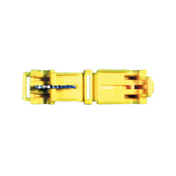 12 Awg 0.250 Inch x 0.032 Inch Yellow Nylon Insulated T-Tap Self-Stripping Male Tab Female Disconnect