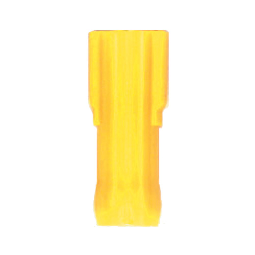 12-10 Awg 1/4 Inch Tab Yellow Nylon Insulated Fully Insulated Push-On Female Disconnect