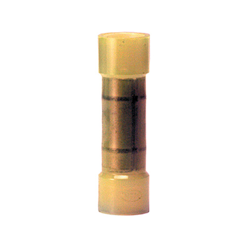 12-10 Gauge Flared Butt Connector Copper Terminal  Nylon Insulated Yellow