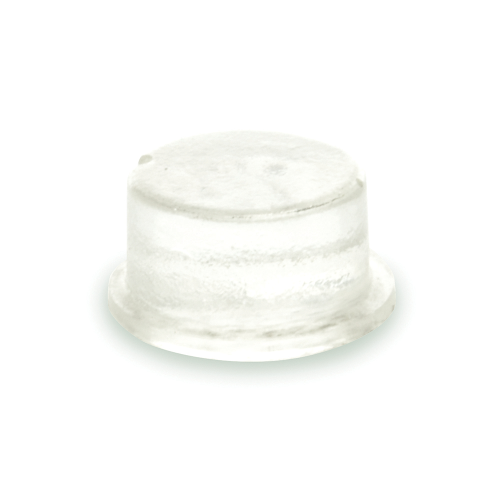 .500 Inch x .250 Inch Cylindrical Flat-Top Self-Adhesive Protective Non-Skid Rubber Feet Clear