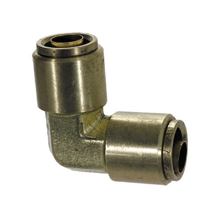 1/2 Inch Brass 90 Degree Union Elbow Push On Air Brake Connector