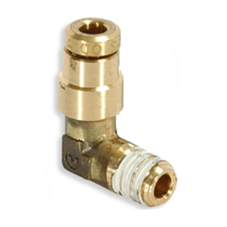 1/16 Inch x 5/32 Inch Brass 90 Degree Male Elbow Push On Air Brake Connector