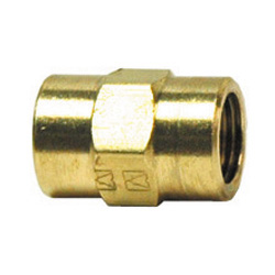 1/2 Inch x 1-13/64 Inch Lead Free Brass Pipe Coupling