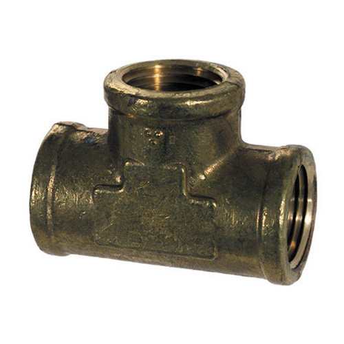 1 Inch Brass Pipe Female Tee