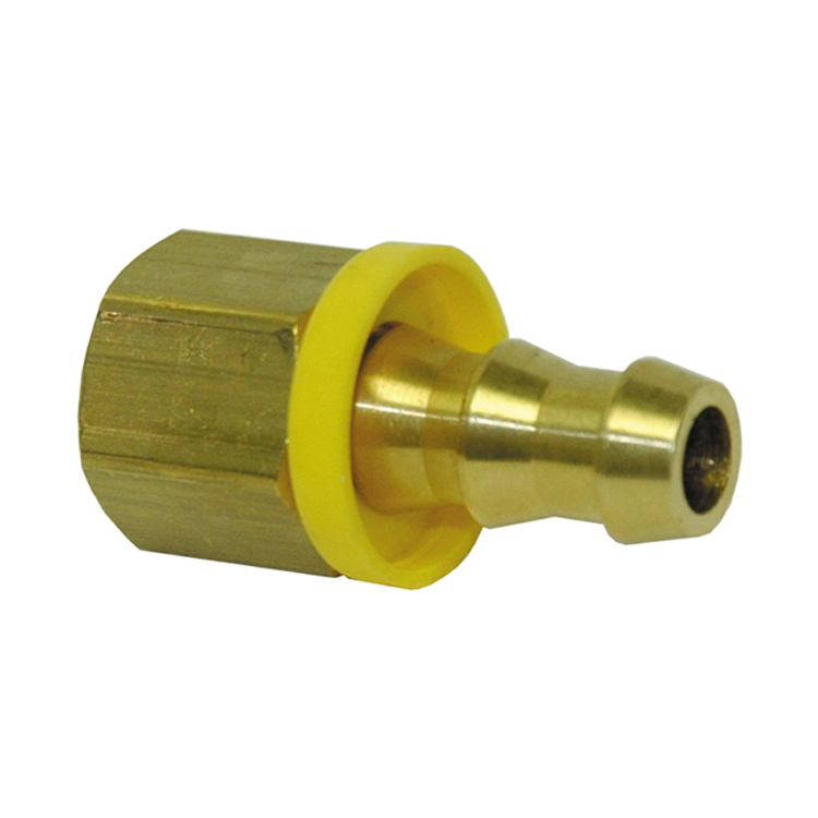 1/2 Inch x 1/2 Inch Fpt x Barb Hose Brass Barb-Tite Female Pipe