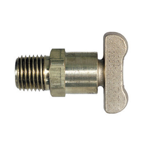 1/4 Inch Drain Cock External Seat Brass and Forged Tee Handle Steel