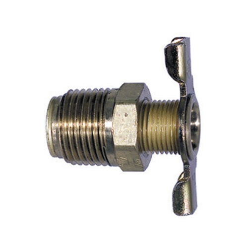 1/2 Inch Drain Cock External Seat Brass and Tee Handle Steel