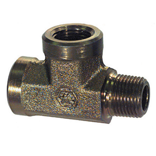 1 Inch 2200 psi Zinc Plated Yellow Dichromate Carbon Steel Pipe Male Run Tee