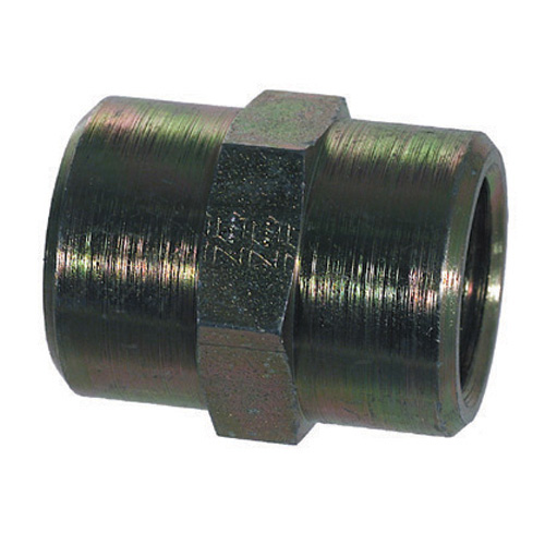 1 Inch 3000 psi Zinc Plated With Clear Trivalent Chromatic Carbon Steel Pipe Coupling