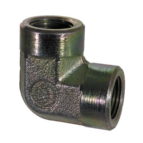1 Inch 2200 psi Zinc Plated Yellow Dichromate Carbon Steel 90 Degree Elbow