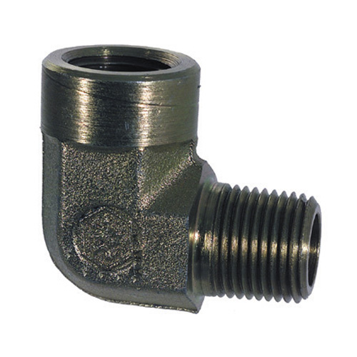 1 Inch 2200 psi Zinc Plated Yellow Dichromate Carbon Steel 90 Degree Street Elbow