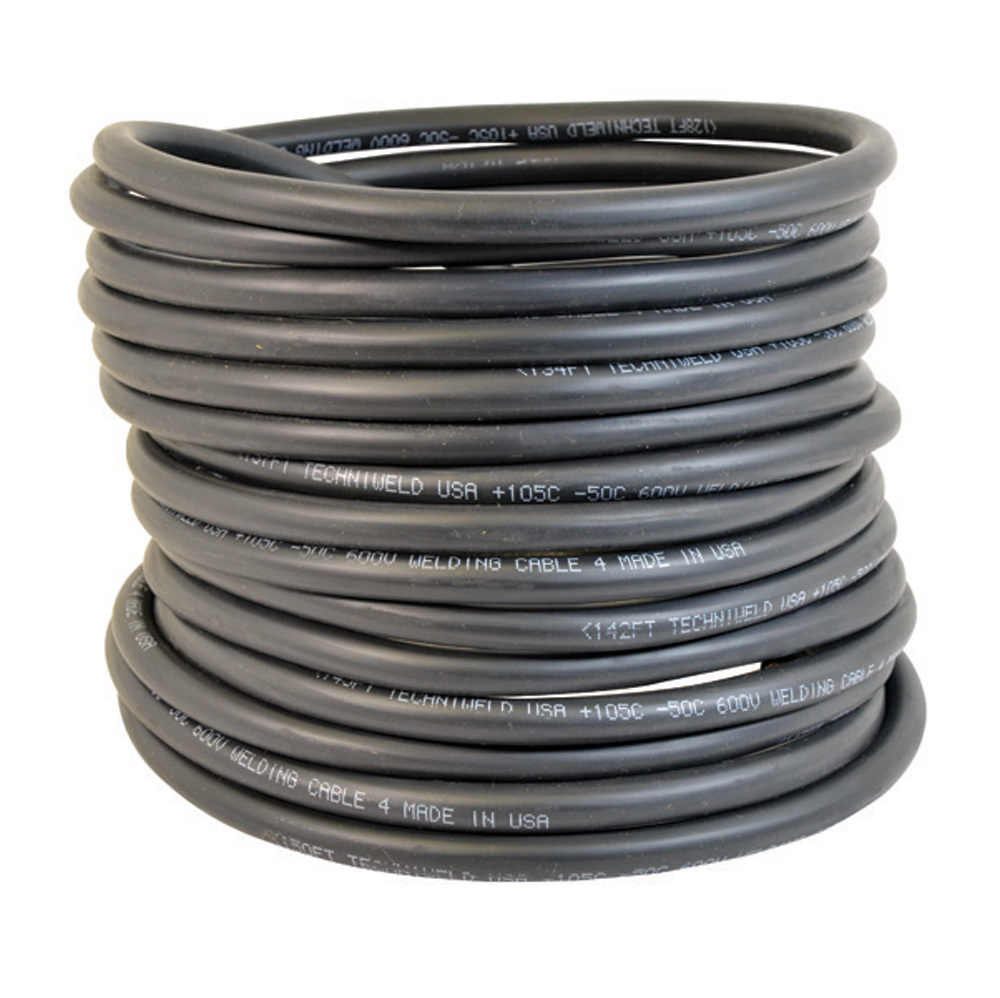 #1 x 50 Foot Premium Welding Cable Black