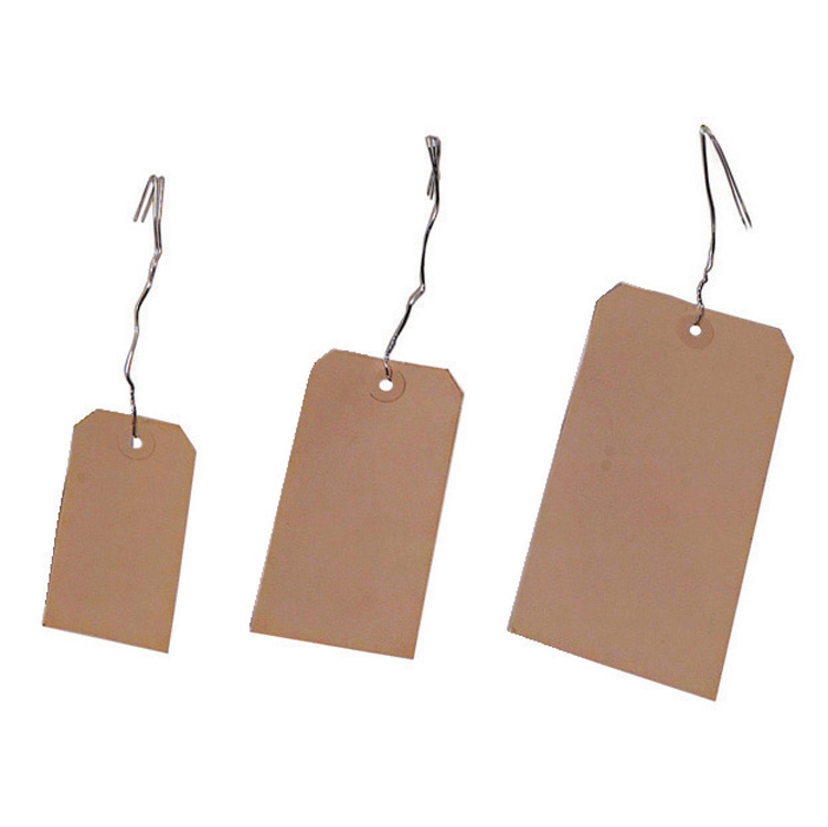 """2-3/8"""" x 4-3/4"""" Manilla Tag Stock #5 With Wire"""