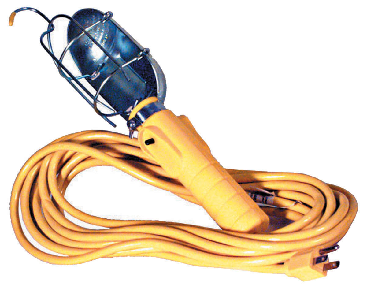 12V Incandescent Work Light With 50 Foot Cord