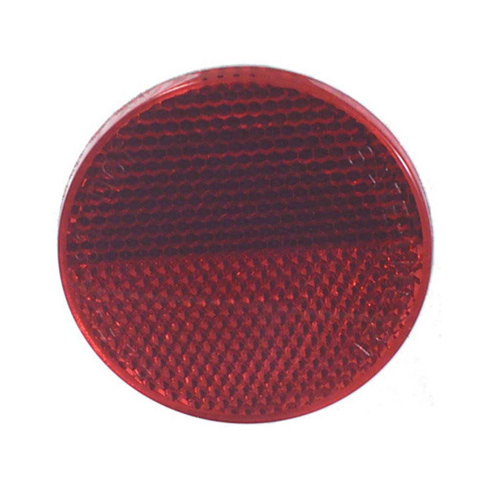 2-3/8 Inch Round Quick Mount Reflector Red