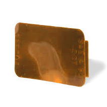 2-7/8 Inch Spitfire Wide Angle Rectangular Stick On Reflector Amber