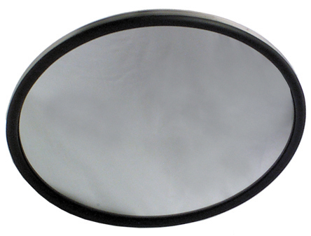 8 Inch x 2-1/4 Inch Round Stainless Steel Rear View Convex Mirror