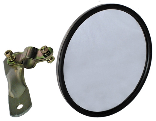 6 Inch x 2-1/4 Inch Round Stainless Steel Rear View Convex Mirror