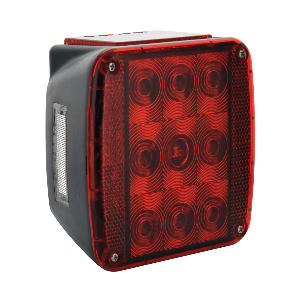 15 Diode Solid State Led Stop Turn Signal and Tail Light With License Plate Light