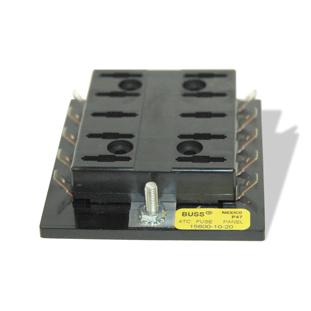 10 Position Blade-Type Fuse Block With Ground