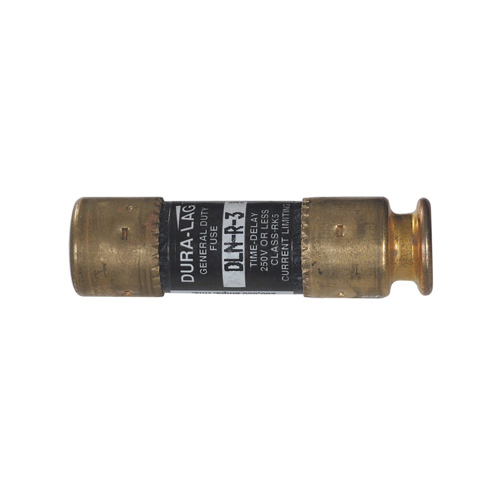 1 Amp DLN-R Type 250 VAC Dual Element Time Delay Industrial Fuse