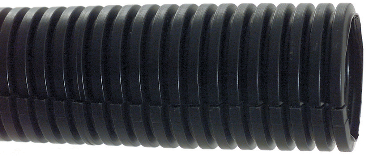 1 Inch x 100 ft Black Polyethylene Split Loom