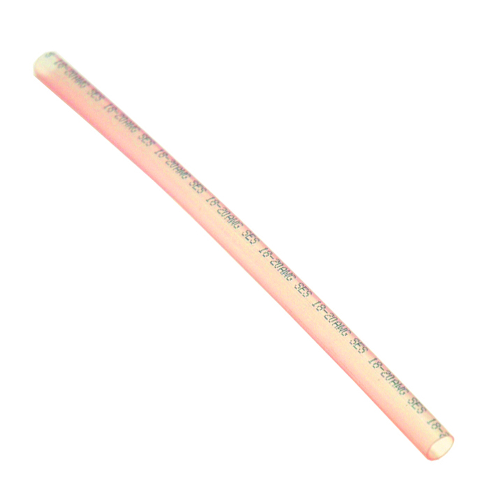 .245 Inch x 6 Inch Red Polyolefin Heat Shrink Tubing With Wire Gauge Imprint
