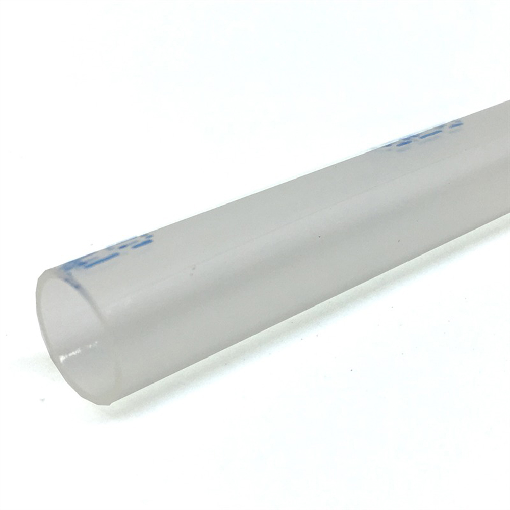 .350 Inch x 6 Inch High Flow Adhesive Heat Shrink Tubing - Clear with Blue Dash