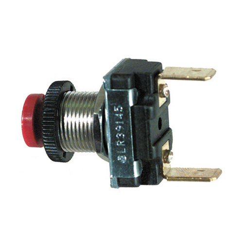 5/32 Inch-32 x .480 Inch Red Push Button Switch Momentary On