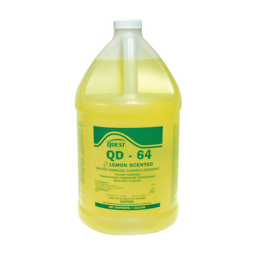 Qd-64 Disinfectant, Deodorant and Cleaner Lemon - 5 Gallons