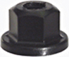 M6X1.0 General Application Carburetor Nut Black Plastic