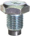 1/2-20 x 3/4 Inch Bright Zinc Plated Magnetic Oil Drain Plug With Gasket