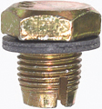 1/2-20 x 3/4 Inch Bright Zinc Plated Double Over-Sized Oil Drain Plug With Gasket