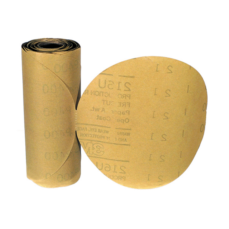 3M 6 Inch Stikit Gold Abrasive Disc Grade 220A Roll of 75