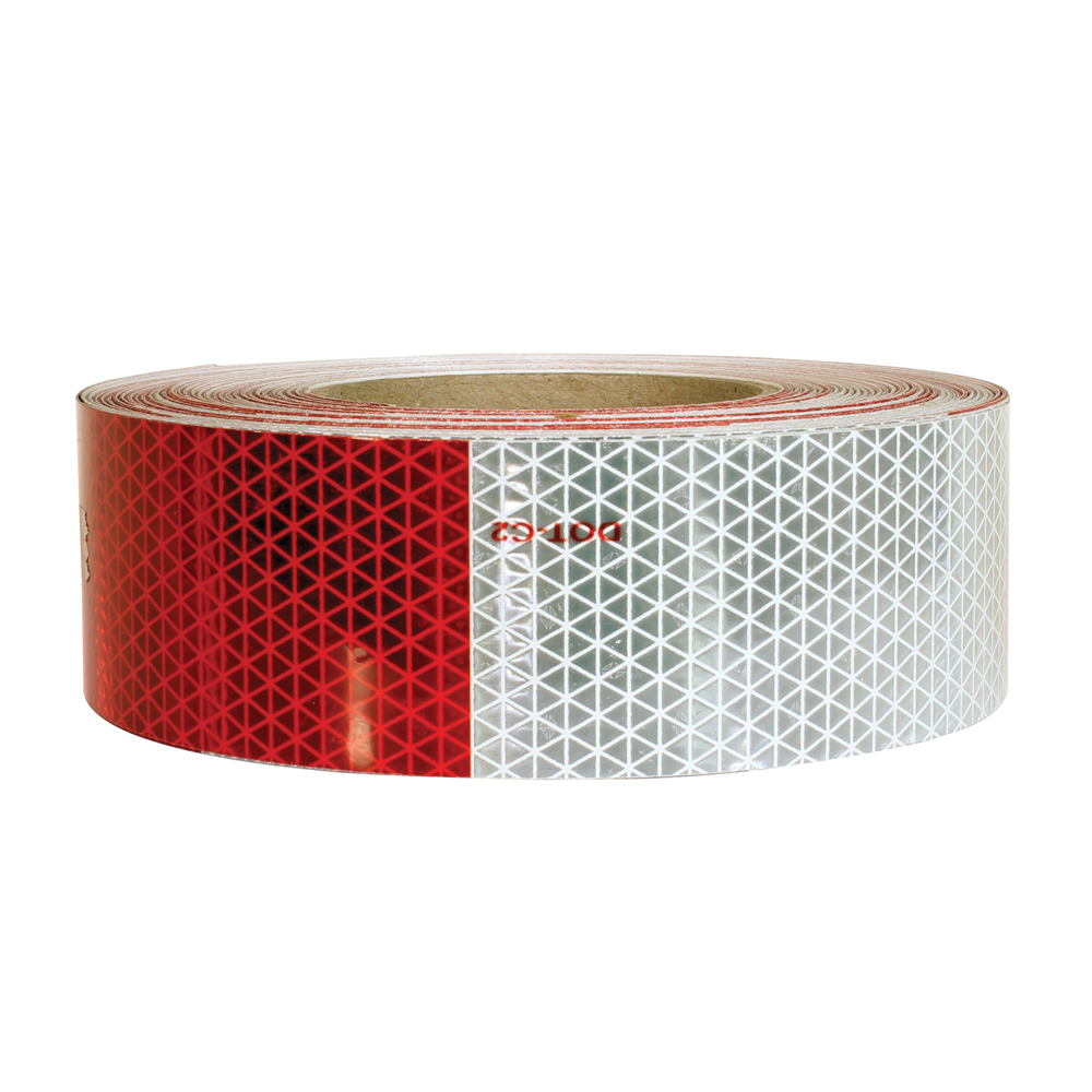 2 Inch x 150 Foot Reflexite D.O.T. Conspicuity Reflective Tape Alternating 7 Inch White / 11 Inch Red
