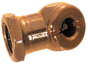 1/4 Inch Fnpt Brass Closed Hex Ball Foot Air Chuck